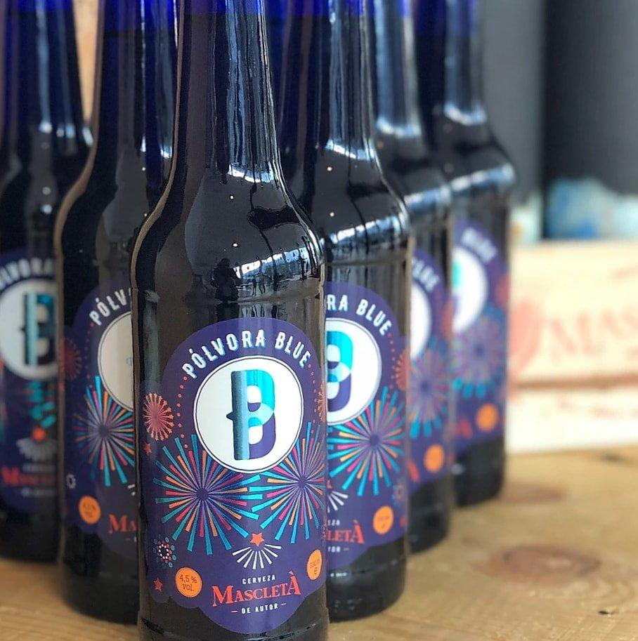 Cervezas artesanales Pólvora Blue